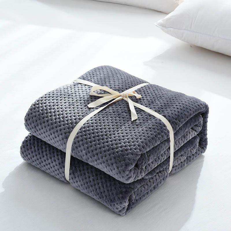 Home Textile Hot Home Textile Flannel Blanket Pink Super Warm Soft Blankets Throw On Sofa,bed,plane Travel Patchwork Solid Bedspread 2019 New Fashion Style Online Bedding