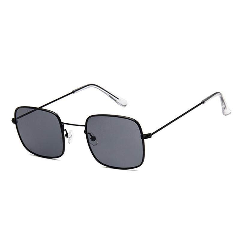 Suke Wanita Pria Kacamata Kecil Persegi Bingkai Polygon Antik Kacamata Hitam -Internasional