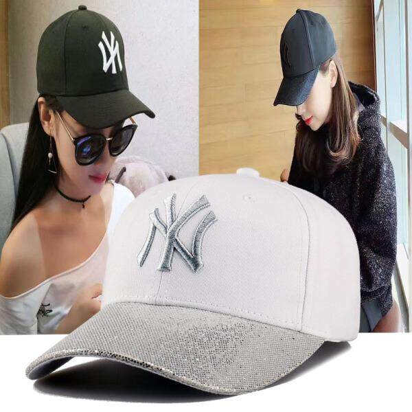 Tourmaline NY baseball cap female Korean version of the wild tide brand  bent duck cap Yankee a044ab99e7