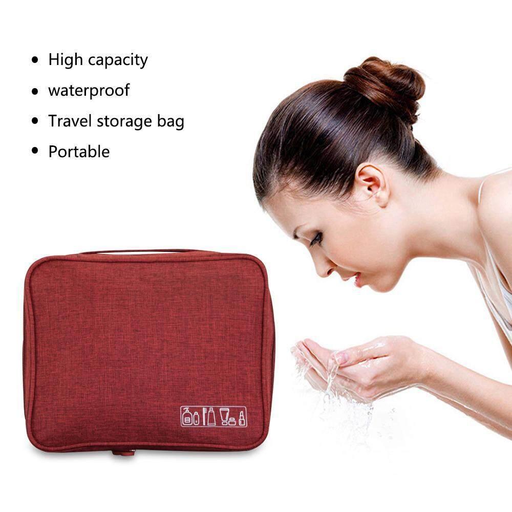 Umiwe Portable Perlengkapan Mandi Perjalanan Tas Kosmetik Tahan Air Organizer Make Up Tas Multifungsi Perlengkapan Mandi Penyusun Peralatan Kamar Mandi untuk Pria Wanita Aksesoris Bepergian - 3