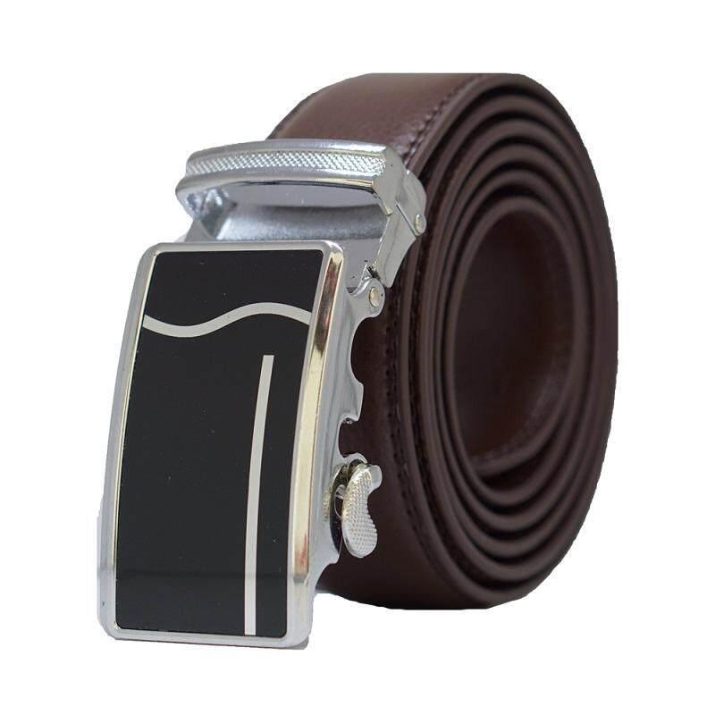 A57 High Quality Original Men Calf Skin Business Man Automatic Leather Belt - Adjustable Strap for Size M , L