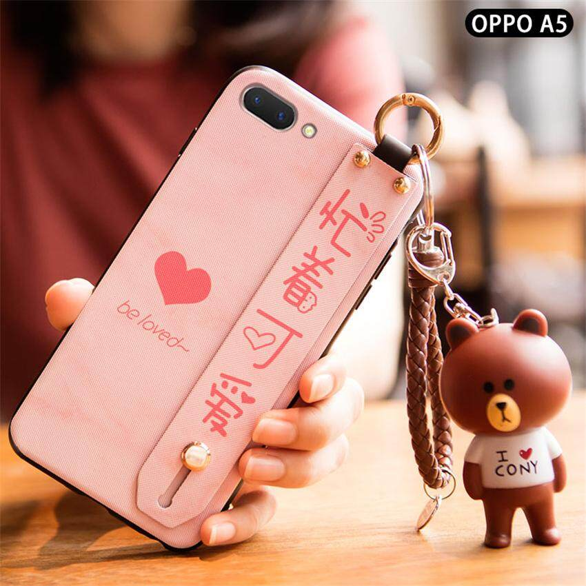 Indah Hati Dicat Tpu Ponsel Case untuk Oppo A3s/Oppo A5 Shockproof DROP Protection Cover