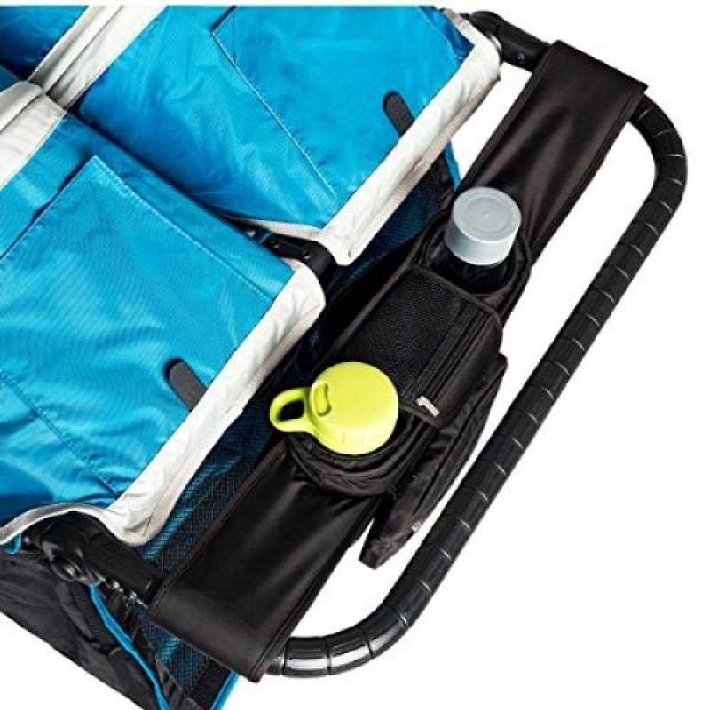 BEST DOUBLE STROLLER ORGANIZER for Smart Moms, Fits Both Double & Single Strollers, Deep Cup Holders, Extra Storage Space for iPhones, Wallets, Diapers, Books, Toys, The Perfect Baby Shower Gift! Singapore