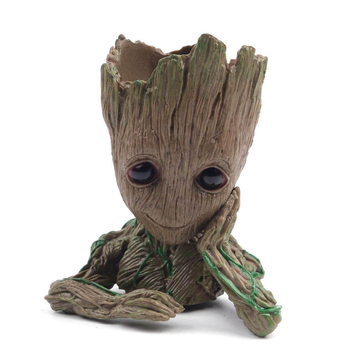 Fashion Guardians Of The Galaxy Pot Bunga Bayi Groot Boneka Tokoh Model Imut Pena Mainan Pot