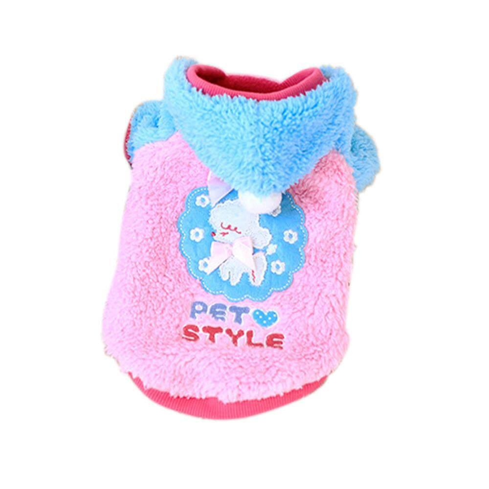 Pet Dog Puppy Warm Flannel Sweater Jumpsuit Coat Clothes Outwear Pk M By Secrikrt.