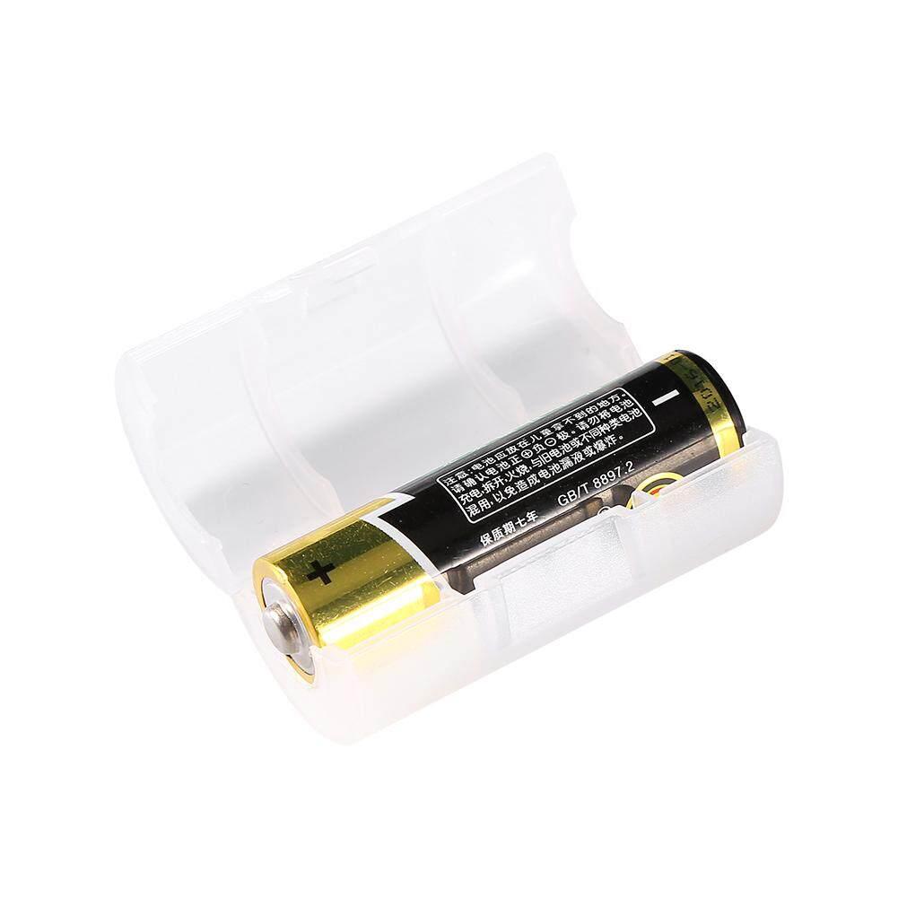 4 Pack AA untuk UKURAN C Battery Adapter Converter Kasus Kotak Putih-Intl - 2