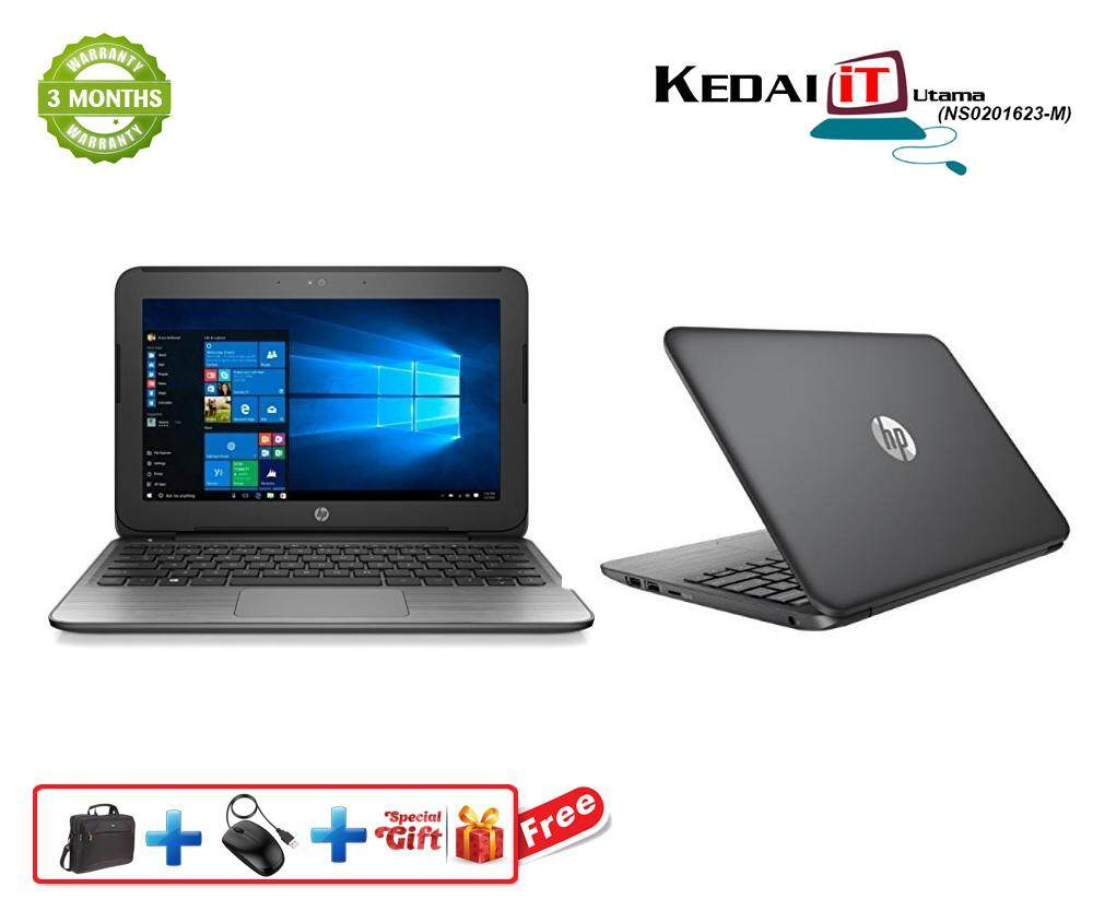 HP Stream 11  - 11.6  Windows 10 | 3 Months Warranty  Intel Celeron 2.16 GHz Dual-Core, 32GB Solid State Drive, 2GB RAM Malaysia