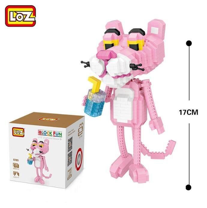 Cute Disney Marvel Pink Panther Loz 890pcs Diamond Building Block