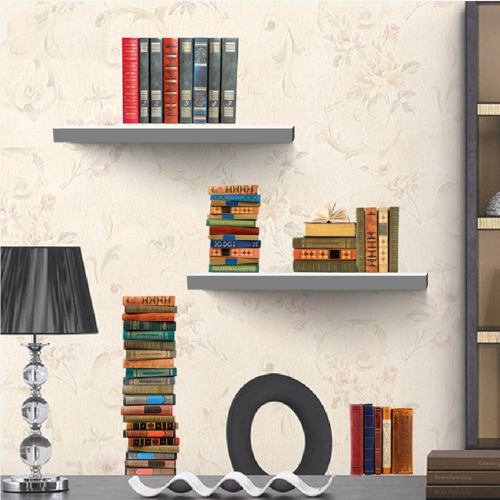 Fityle 3D Bookshelf Wall Decal Stickers Kids Room Decor