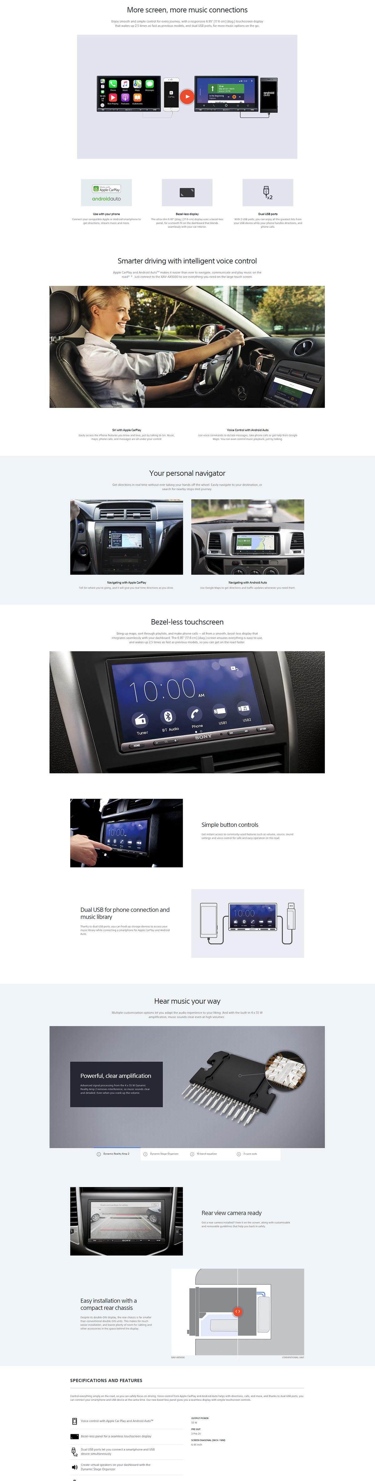 Sony XAV-AX5000 6 95