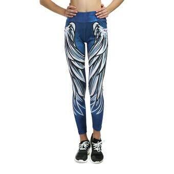 Bandingkan Toko Amart Fashion Wanita Sayap Dicetak Celana Yoga Ketat Legging Latihan Kebugaran Celana Crop Mesh Cepat Kering-Intl sale - Hanya Rp99.395
