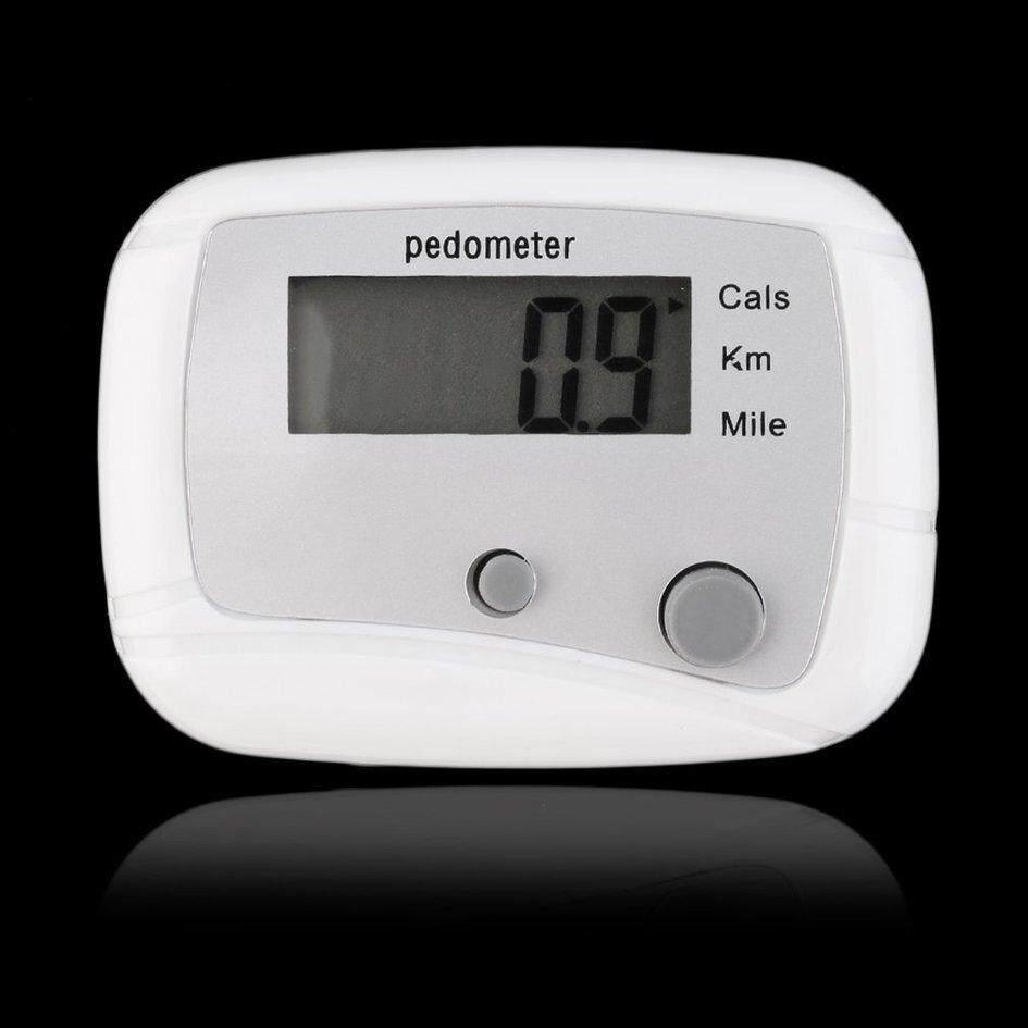 Ringan Digital LCD Mini Pedometer Run Langkah Joging Berjalan Penghitung Jarak