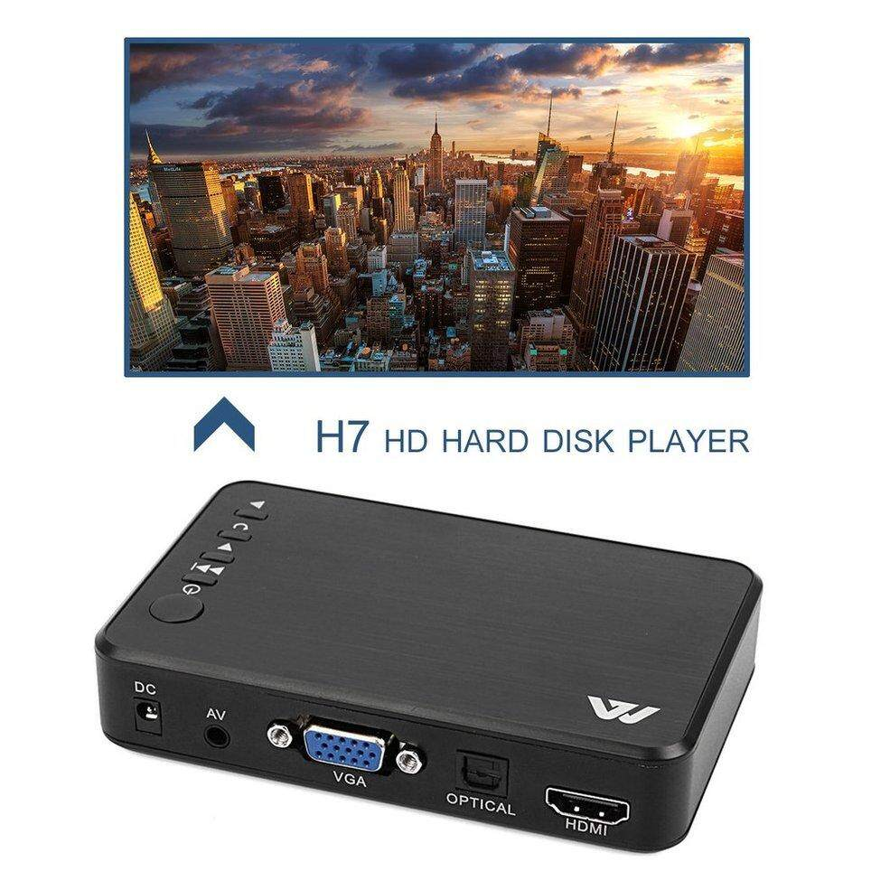 Qnstar Full Hd 1080p 3 Outputs Hdmi Vga Av Usb Card Mini Multimedia Player H7 Black Au By Qnstar.
