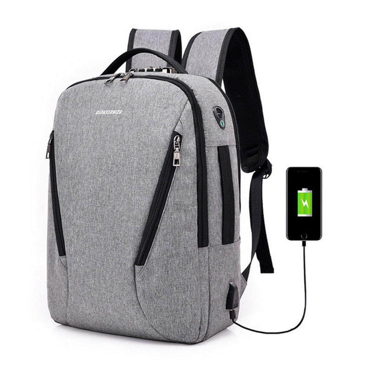 a5ca07a934 Anti-theft Mens Womens Laptop Notebook Backpack USB Charging Port School Bag  New grey