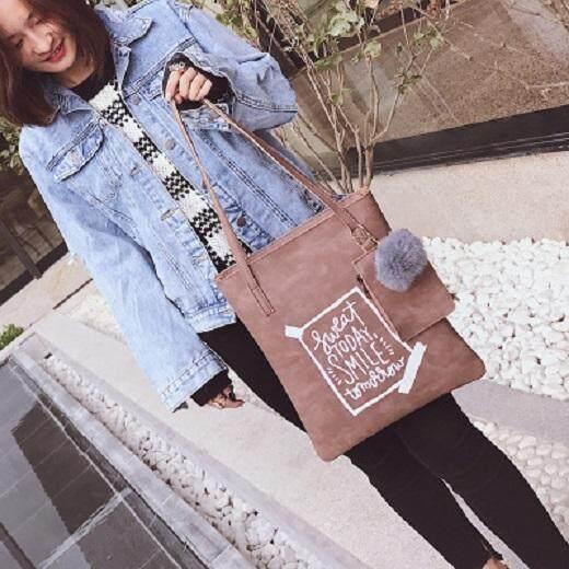 [PRE-ORDER] Women College Korean Simple Handbag Tote Large Bag
