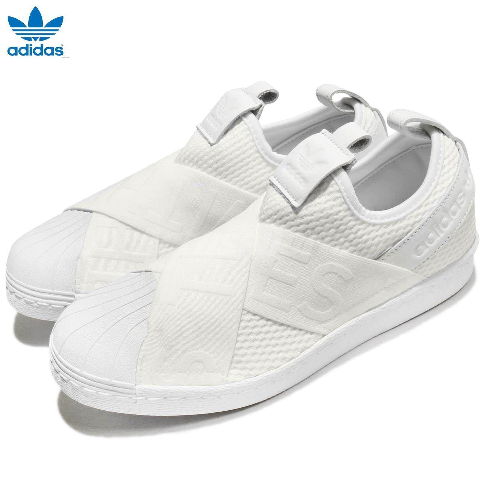 Adidas Baru Originals SUPERSTAR SLIP-ON CQ2381 (Cloude Putih) Sepatu 6fa69a9801