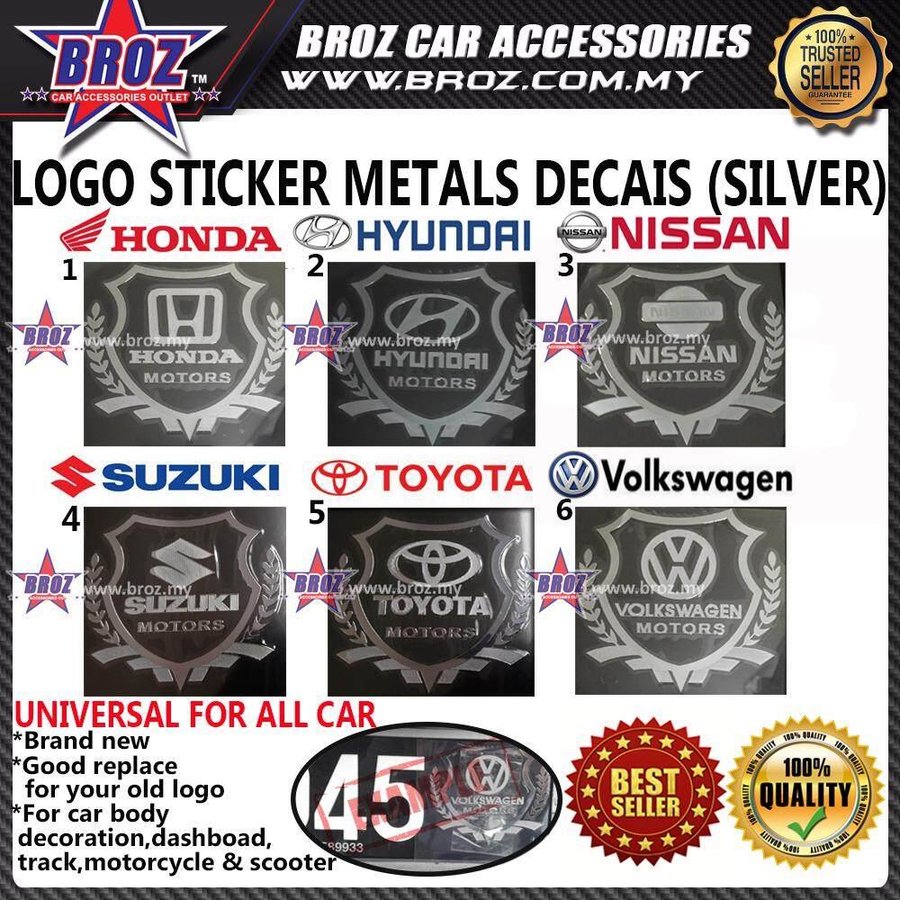 Automobile Car Metal Decais Silver Sticker Logo Emblem Badge Car Styling Accessories