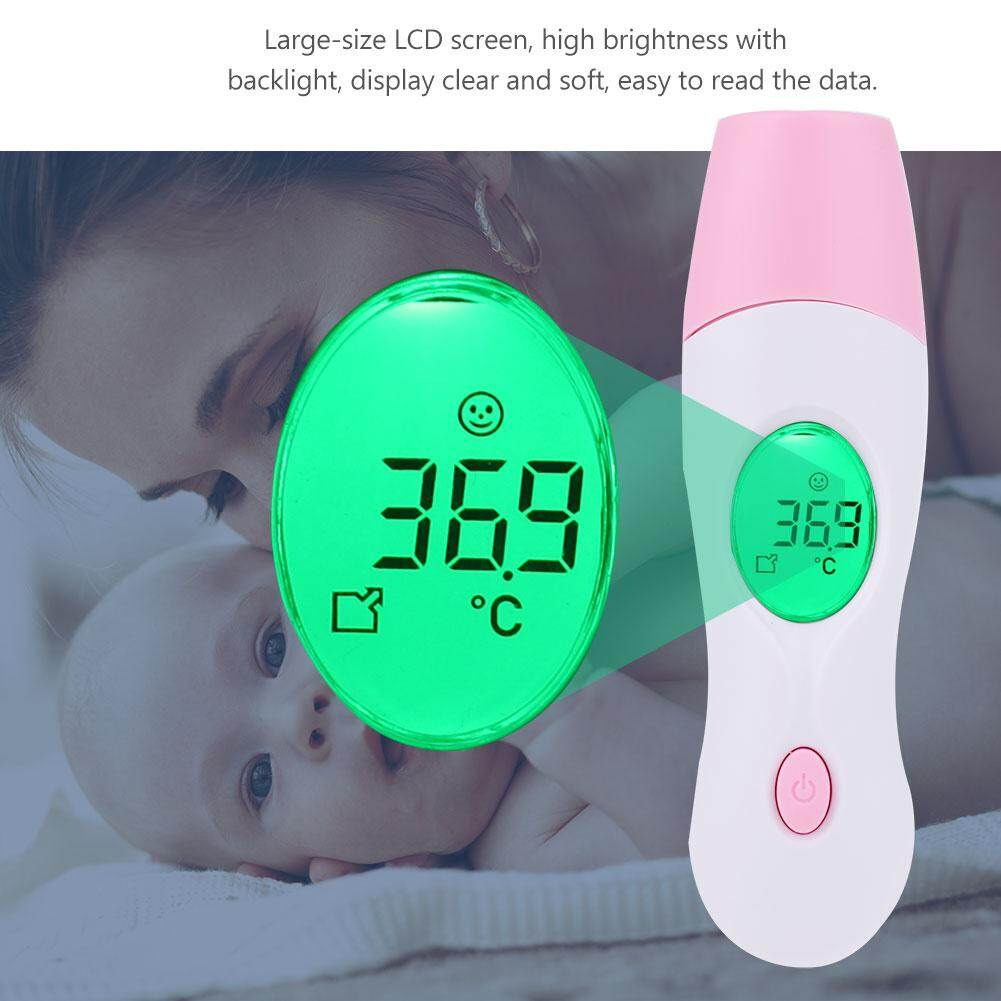 【ELE】Baby Adult LCD Digital Ear Forehead Infrared Thermometer Temperature Monitor - intl(Hồng)