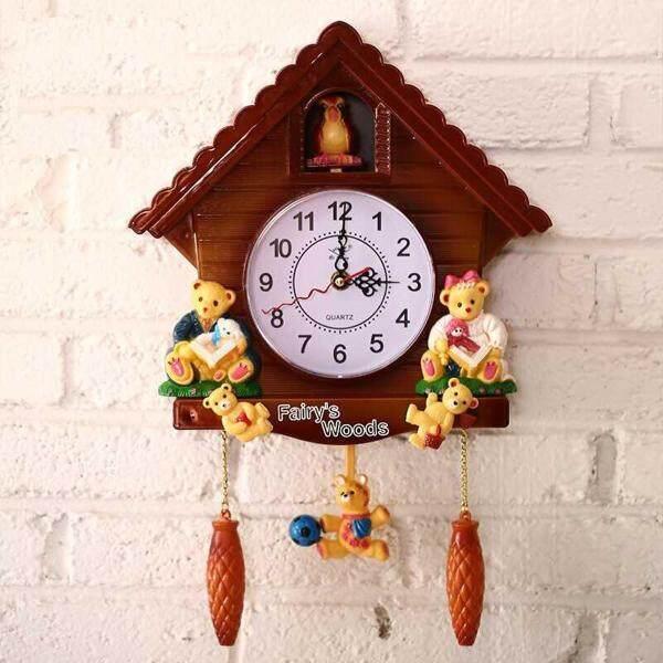 Đồng Hồ Cổ Bằng Gỗ Cuckoo Bird Time Bell Chuông Báo Thức Đồng Hồ Treo Tường Trang Trí Nội Thất bán chạy