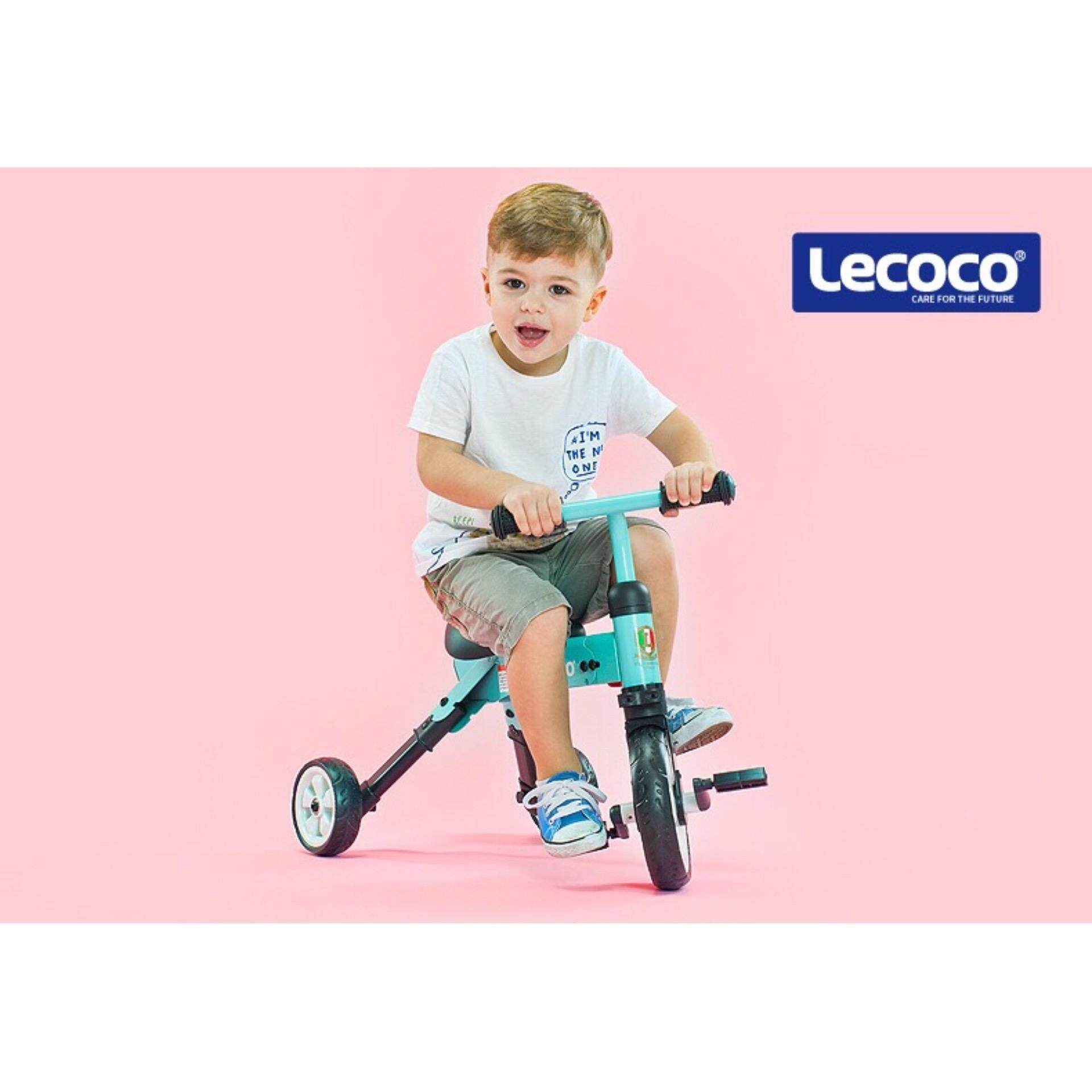 Lecoco Tiny Kid Lightweight Foldable & Portable Tricycle Bicycle Push Bike