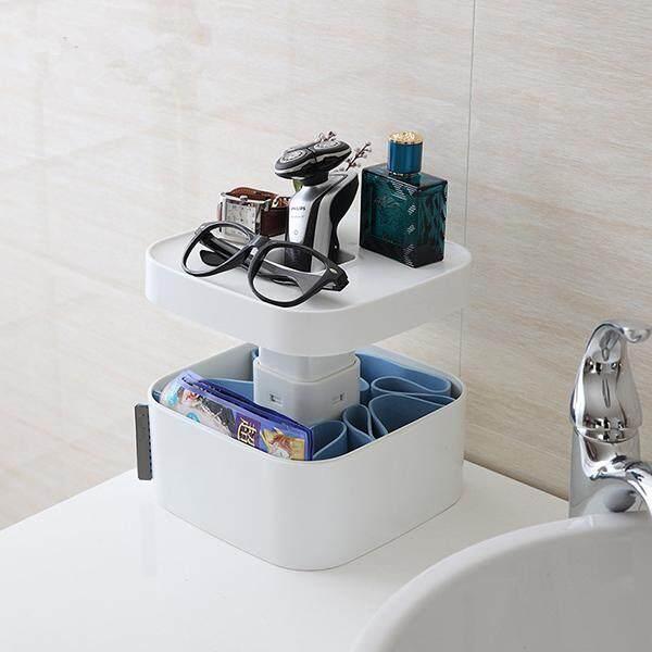 Creative Home Desktop Plastic Storage Box Multi-function Cosmetics Case Storage Container Organizer