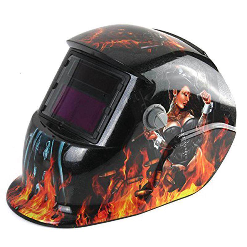 Welding Helmet Auto Darkening Solar Powered Weld/Grind Selectable Mask Protector for Arc Tig Mig Grinding Plasma Cutting