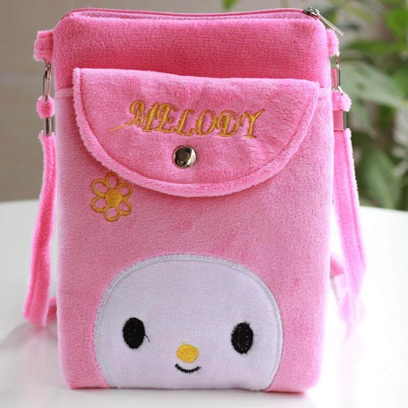 Gaya Korea Imut murid tas bahu tunggal tas selempang anak anak prempuan Tas Kartun Kain Beludru tas ponsel anak perempuan Dompet Uang Receh Tas - 3