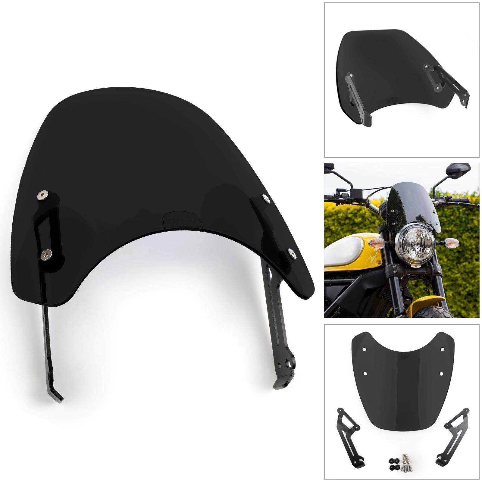 Areyourshop 1x For 15-2018 Ducati Scrambler Windshield Windscreen Wind  Defector protection B