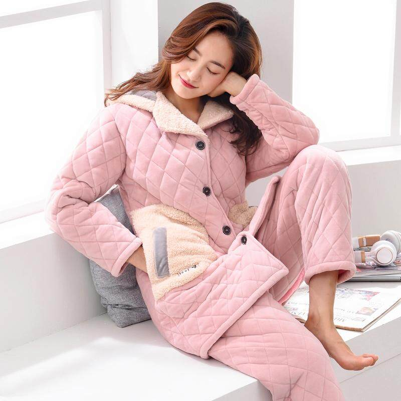 Winter Pajamas women Autumn And Winter Coral Velvet Padded Thick Spring And  Autumn plus Velvet Flannel c04d13e74