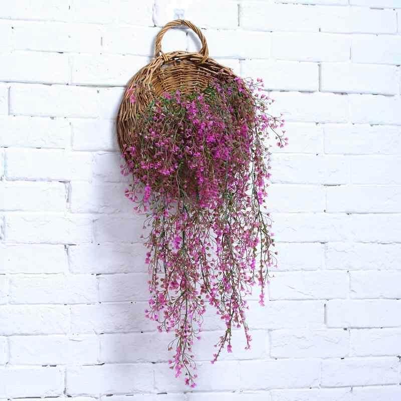 Fuan Buatan Tanaman Bunga Rotan Simulasi Bunga Plastik Rotan Imitasi Bunga Vines Cabang Dedalu Gantungan Dinding