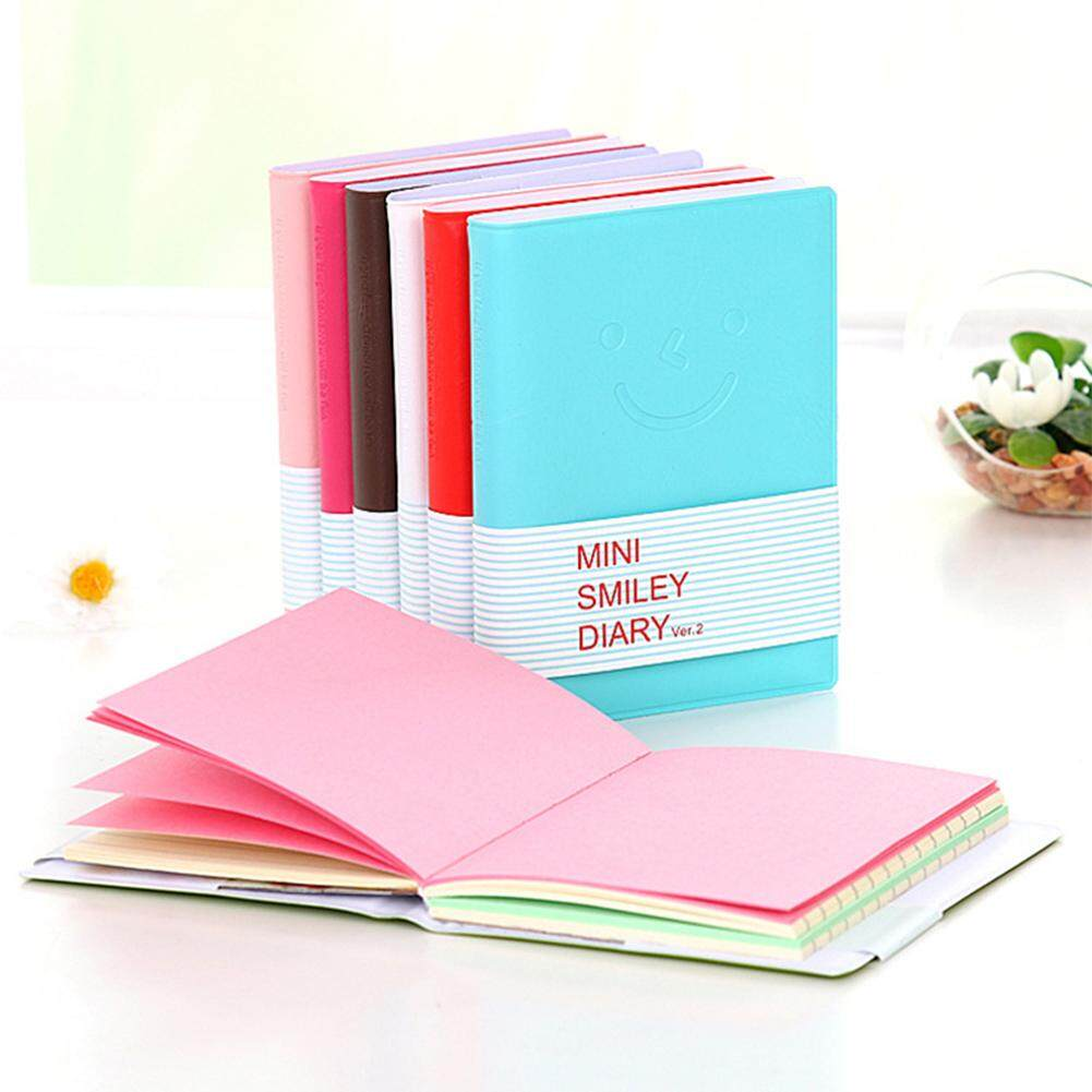 Empat Musim Penjualan Besar Berwarna-warni Indah Wajah Tersenyum Mini Buku Tulis .