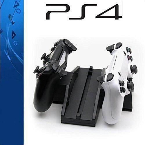 Langsung Menghukum Mati PS4 Dok Pengisi Daya Dobe Dudukan Vertikal Kipas Angin Pendingin dengan Pengisian USB Ganda Stasiun Pengisi Daya Dok untuk PlayStation 4 Controller-Intl