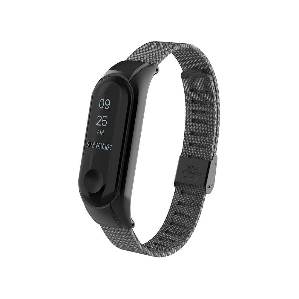 Steeless Metal Replacement Wrist Band Strap for Mi Band Miband 3 Smart Bracelet Silver Black Rose