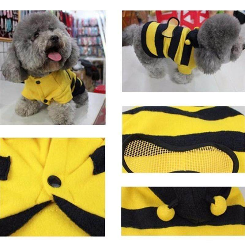 Pets Clothes Bee Style Velvet Coat Warm Sweater Clothes Wear For Cat Dog By Outop Store.