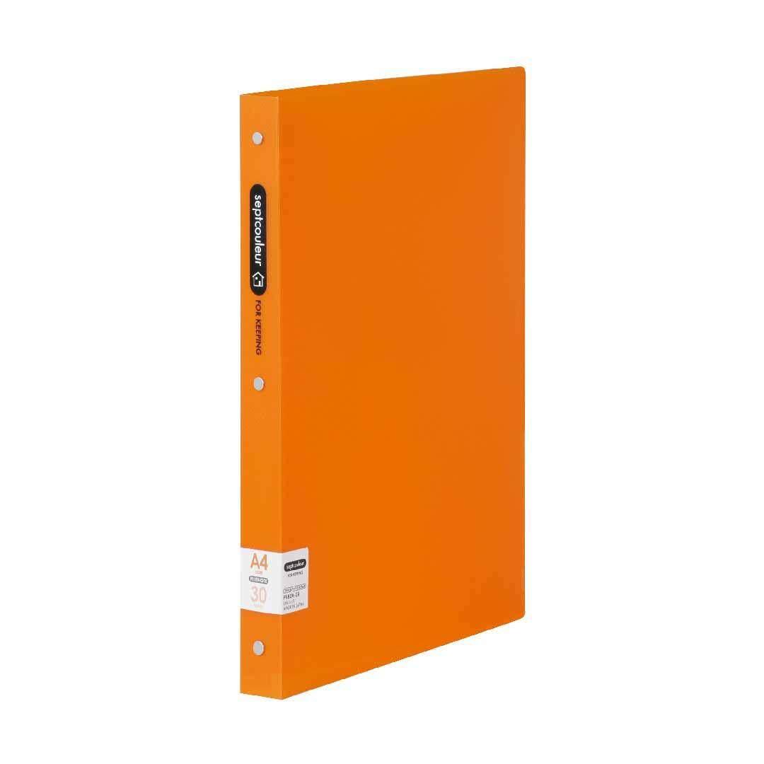 SEPT COULEUR A4, 30 Holes, 90 Sheets, 30 Spine Width - Orange