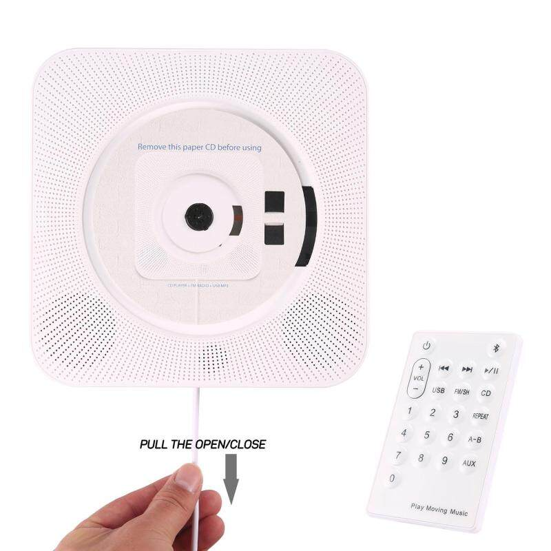niceEshop Wall Mounted Bluetooth Cd Player, Pull Switch With Remote HiFi Speaker USB Drive Player Headphone Jack AUX Input/output Singapore
