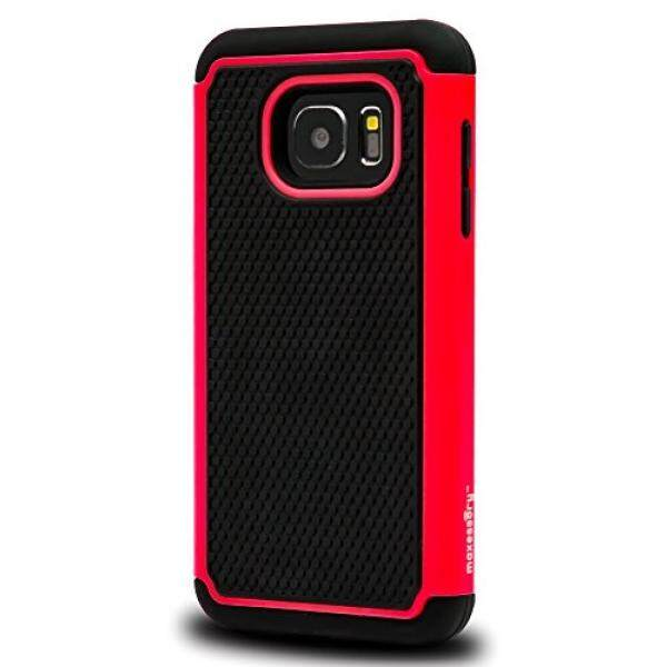 Samsung Galaxy S7 Case, Maxessory [Haven] Slim Shock-Proof Rugged Tough Protector Armor Shell w/ Durable Ultra-Slim Impact Protection TPU Thin Grip Cover Red Black For Samsung Galaxy S7 - intl