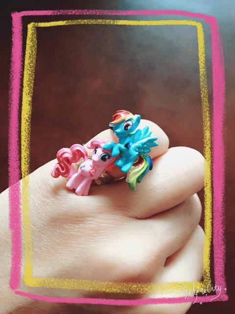 Serangga Gadis Pony Gadis Kecil Yang Cantik Cincin Lembut Ungu Yue Green Jade Qi Cloud Princess Anak Mainan Di Harta Karun Cosmos pergi Bersama dengan Dekorasi