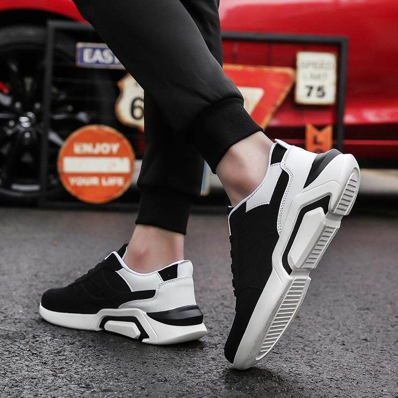 b9c513f248ee Ins New Spring Summer New Style Thick Bottom Extra High Running Casual  Men s Shoes Daddy s Fashion