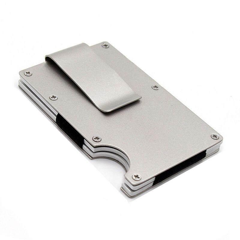 Men Stainless Steel Elastic Band Slim Money Clip Credit Card Holder Wallet Purse,Silver - intl Philippines