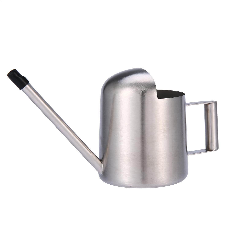 Aojbteng 300 Ml Anti Karat Mini Penyiraman Alat Berkebun Kecil Panjang Spout Watering Kaleng untuk Ukuran Kecil untuk Meja tanaman Di Kantor atau untuk Anak-anak, perak-Internasional