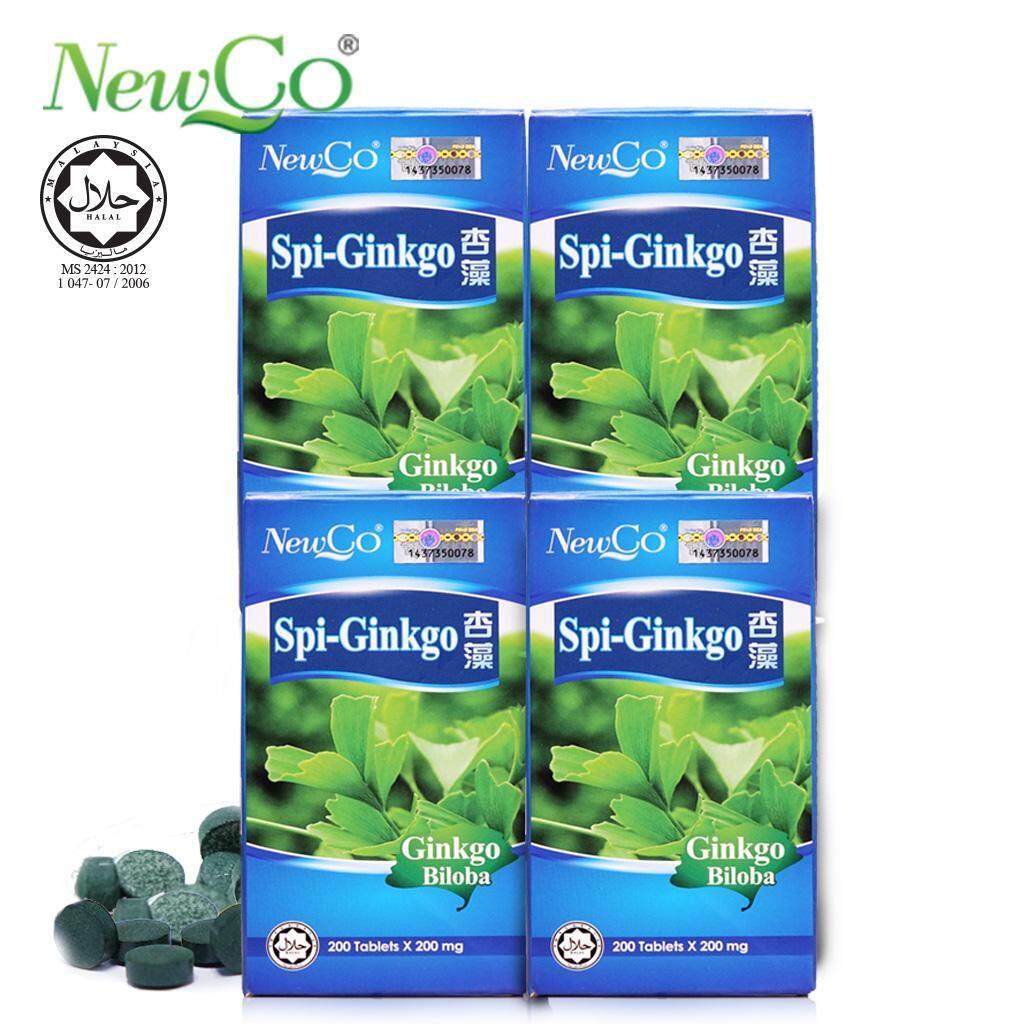 Newco Spirulina Ginkg 4X 200 tablets 200mg