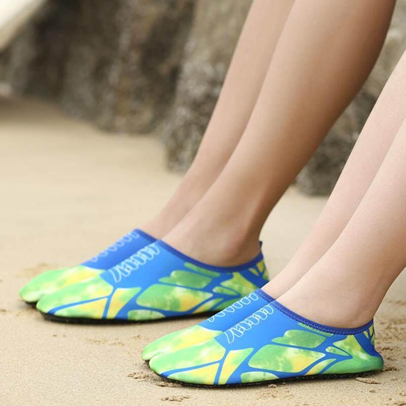 Fashion Sepatu Menyerap Keringat Sepatu Renang Sepatu Treadmil Sepatu Yoga Kebugaran Tas Kering PVC-Intl