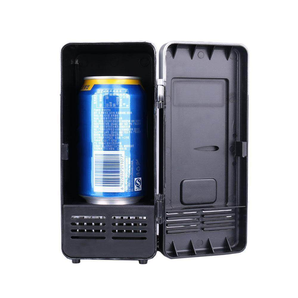 Black Red Small 19.4 * 9 * 9CM Plastic Fruit Juice Freezer USB Mini Fridge Mini Refrigerator - intl