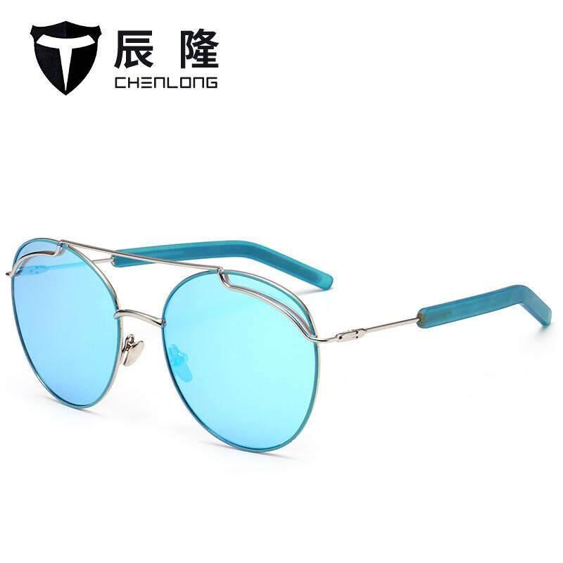 2018 frog mirror colorful trend sunglasses universal sunglasses riding 1851 paragraph(Golden frame tea)