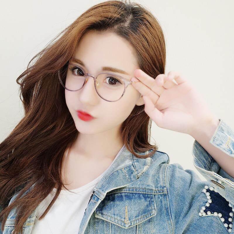 ... Transparan Zi Hui Logam bingkai kacamata wanita Gaya Korea pasang Retro  Sastra rabun dekat tidak berderajat ... a6ac5defe0