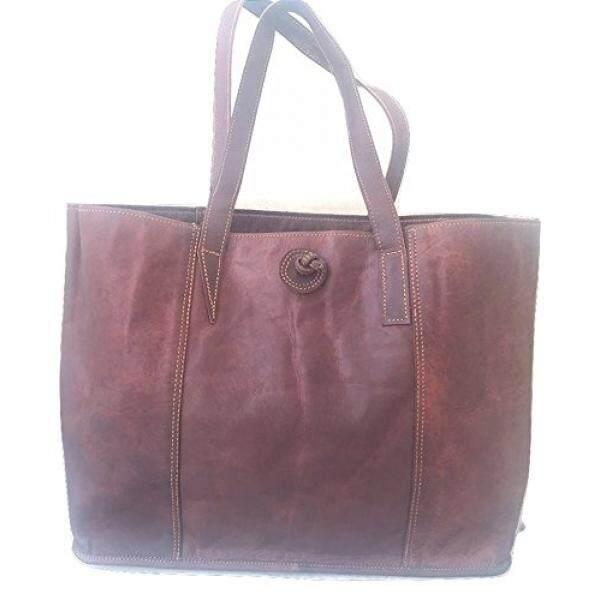 Vintage Handmade Genuine Womens Tote Bag Satchel Shoulder Bag for Laptops up to 15.6 Inches - intl