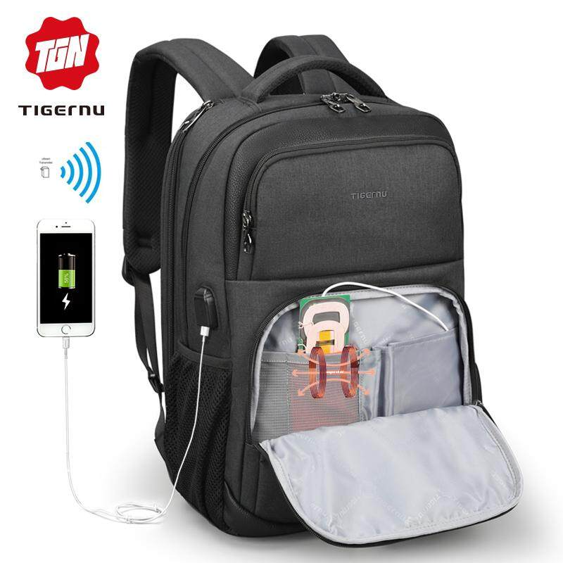 2bde1d8879 Backpack travel bag Tigernu Casual Mne USB Charging Anti-theft Backpack  School Bag for Teens