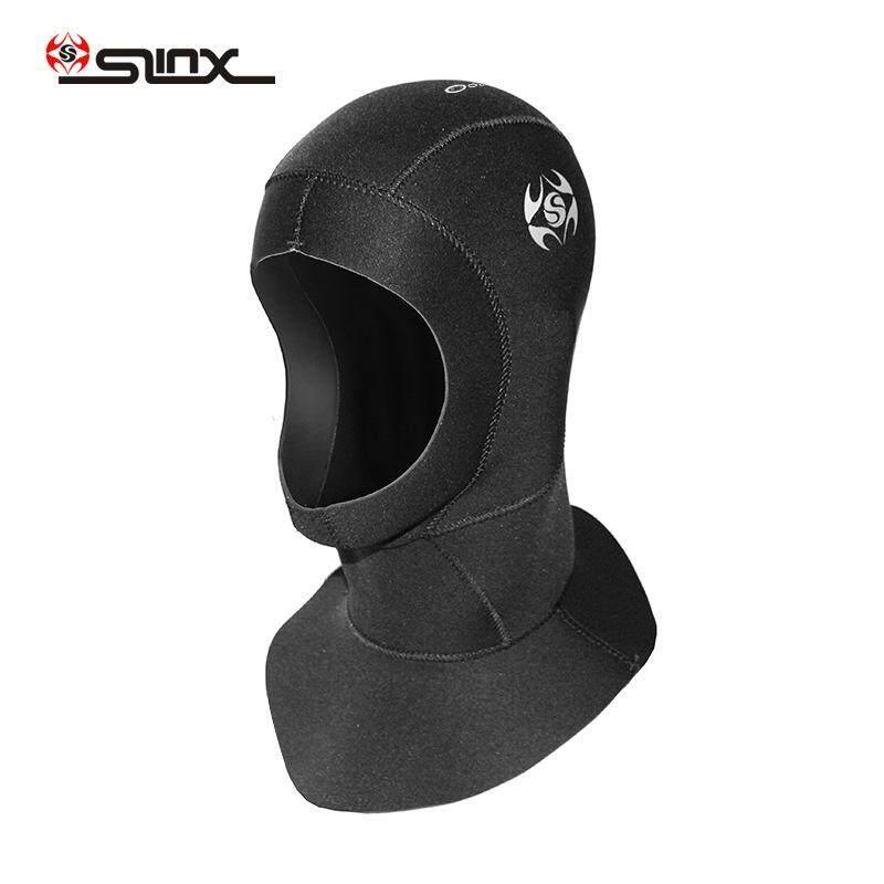 fbc4459114c SLINX 3 mm Neoprene Spearfishing Fishing Snorkeling Hood Cap Swim Neck Full  Face Mask Waterproof Scuba
