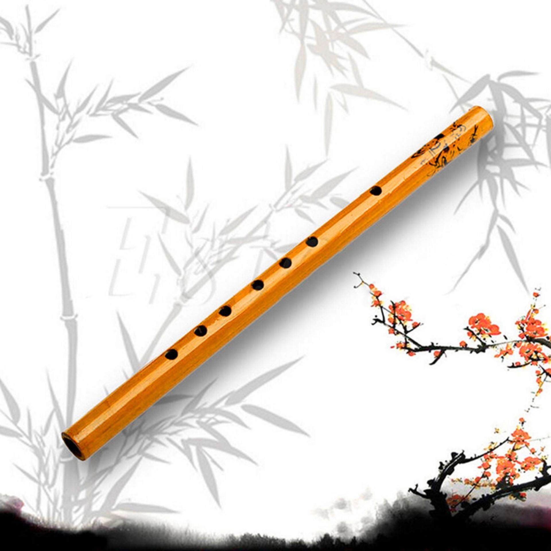 Dragon Traditional 6 Hole Bamboo Flute Clarinet Student Musical Instrument Wood Au